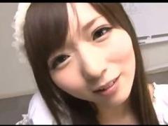 Japanese Porn Babe Sucks POV