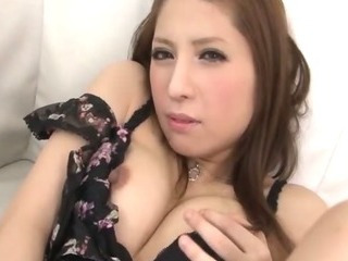 Porn Tube of Sultry Tsubasa Aihara In Black And Pink Lace Lingerie Fingers Her Trimmed Pink Muffin