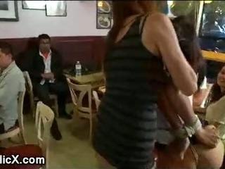 Porno Video of Bdsm Gagged Brunette Fucked In Restaurant