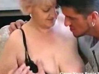 Sex Movie of Busty Granny In Stockings Loves Cock