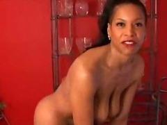 Mature black babe has big tits