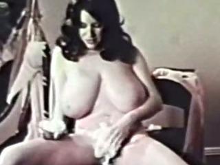 Porn Tube of Classic Porn-busty Brunette Shaving