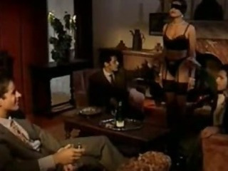 Porno Video of Vicious Brunette Slut Gets Gangbanged And Facialized - Vintage German Porn