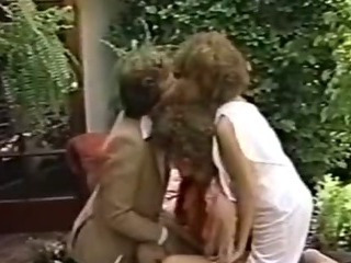Porn Tube of Porn Threesome Movie In The Garden