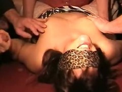 Amateur wife has a gangbang with over 40 men