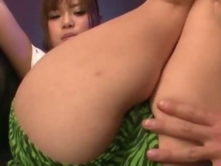 Porno Video of Pretty Azami In Green Shorts And A Tshirt Has Her Pussy Played With Before She Is Toyed And Squirts
