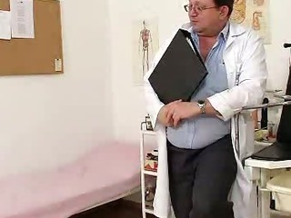 Porn Tube of Blond-haired Chubby Milf Explored By Cunt Doctor