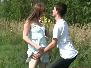 Porno Video of Busty Pale Teenager Fucked Outdoors