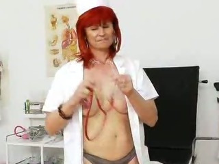Porno Video of Attractive Redhead Cougar Nurse Solo