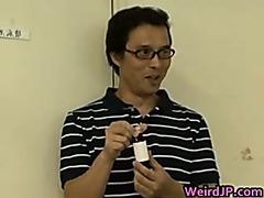 Amazing Japanese girl enjoys crazy sex