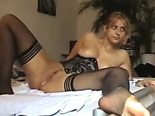 Porn Tube of Hardcore Dildo Anal Stuffed Wife In Stockings