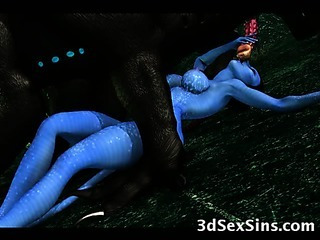 Porn Tube of Creatures Fuck 3d Scifi Babes!