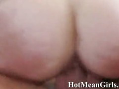 Pair of swinger chicks in wild group sex as their pussies are fucked hard