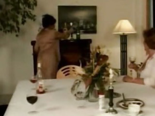 Porno Video of Grandma Martha Enjoys A Dinner Party
