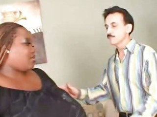 Porno Video of Skinny Grandpa With Nasty Bbw Ebony