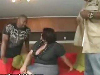 Sex Movie of Big Tit Latina Wife Fucks 2 Big Black Cocks