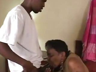 Porno Video of Ebony Old Grandma Helping Me