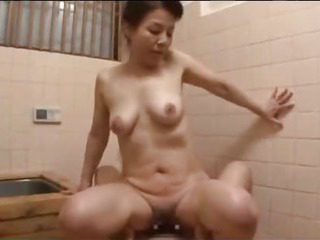 Porn Tube of Mature Woman Fucked Hard By Young Guy Getting Creampie In The Bath