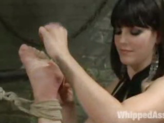 Porno Video of Lesbian Bdsm Hard Corporal Punished Chained Anal Hooked Slave