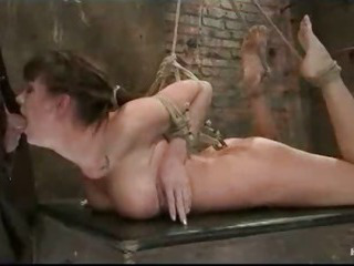 Porno Video of Mouth Fucked And Ass Hooked Bound Babe Gets Vibrated