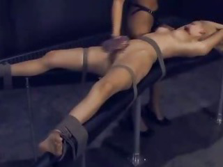 Sex Movie of Audrey Leigh And Leah Wilde  Bdsm Bondage Slave Femdom Domination