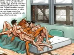 Tanned Huge Breast Horny Sex Comic bdsm bondage slave femdom domination