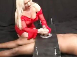 Porn Tube of Fuck And Jerk The Screwed Slave. Verry Sexy  Bdsm Bondage Slave Femdom Domination