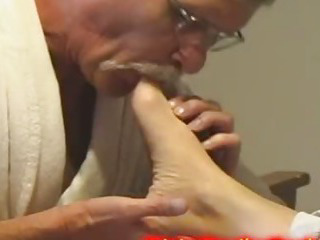 Porno Video of Man Caught Sucking Milf Toes And Turned Into Sex Slave