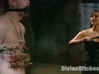 Porno Video of Femdom Bdsm Slave Sadistic Mistress Anal Strap-on And Fetish