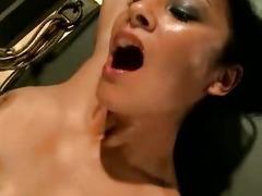 Dirty bondage slut ass fuck and cumshot