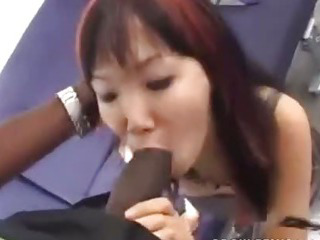 Porno Video of Little Asian Taking Big Black Cock Balls Deep