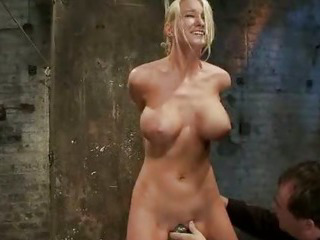 Porn Tube of Gorgeous Blonde Gets Tied Up And Abused In Bdsm Vid