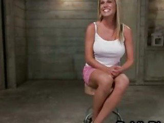 Porn Tube of Tied Up Busty Blonde Hard Flogged And Anal Pounded In Public