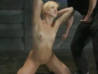 Porn Tube of Throat And Pussy Fuck For A Tied Up Blonde In Bdsm Sex Vid