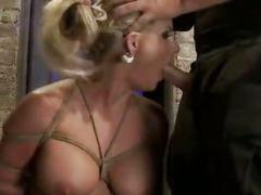 Insane Tit Torture In BDSM Vid For A Helpless Blonde