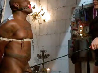 Porno Video of Black Bound Mucle Guy Fucked By Mistress With Huge Strapon Cock