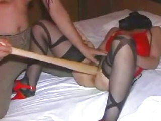 Porno Video of Extreme Slave Brutally Fucked With A Huge Baseball Bat