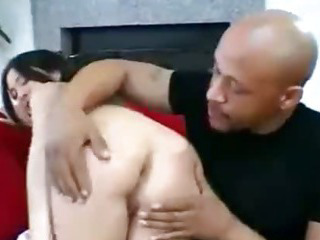 Porn Tube of She Is A Little Chick Taking Big Black Cock