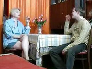 Porno Video of Russian Mom And Boy Having A Drink