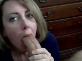 Porno Video of Hot Blonde Mom Sucking A Big Dick