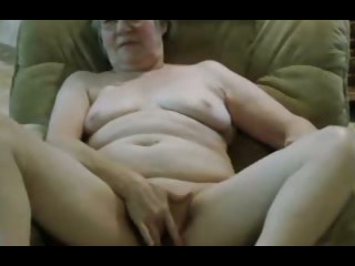 Porno Video of Granny's New Black Dildo.