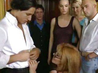 Porn Tube of Italian Mature College Teacher With Boys And Girls