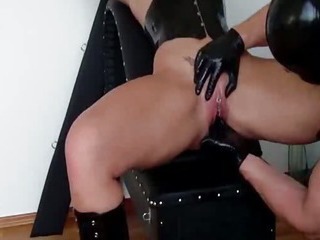 Porn Tube of Busty Slave Fist Fucked In Her Loose Cunt Till She Squirts