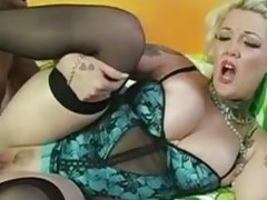 Chubby Blonde Interracial