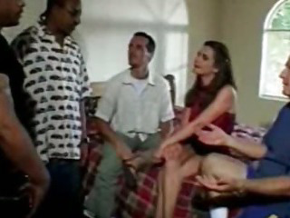 Porn Tube of Wife Interracial Gangbang