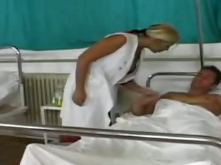 Porn Tube of Patient Inoculates Milf Nurse With His Big Cock