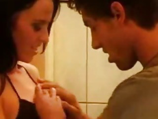 Porno Video of Tight Brunette Bumping Uglies In The Bathroom