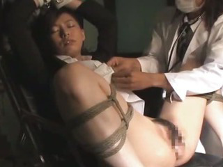 Porn Tube of Asian Bondage Babe Tied Up With Pussy Spread Wide