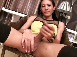 Porno Video of Ladyboy Ja No Panty Penetration