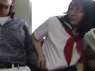 Porn Tube of Japanese Teen In School Uniform Has Threesome Uncensored